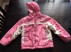 3T Pink Fleece Lined Waterproof Toddler Jacket