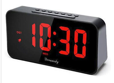 New! DreamSky 7.3 Large Alarm Clock Radio with FM Radio and USB Charging Port
