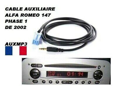 Cable Adaptador Aux Auxiliar Jack Autorradio Alfa Romeo 147 Desde 2002 Fase...