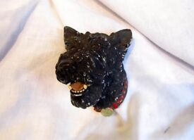A Rare Vintage 1969 Bossons 'Mac' Scotty Dog Wall Hanging