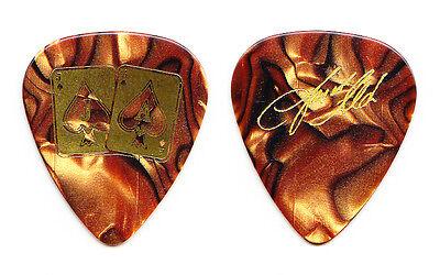Jason Aldean Signature Orange Pearl Guitar Pick - 2015 Tour
