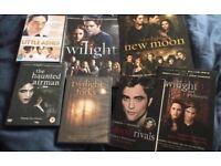 Twilight Saga 4 books & 3 DVDs bundle Rob Pattinson Taylor L