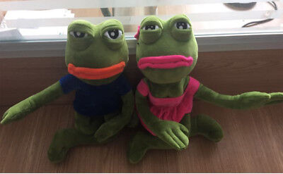 "2Pcs 18"" The Frog Sad Pepe Girlfriend Plush 4chan Kekistan Meme Doll Stuffe Gift"