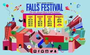FALLS FESTIVAL BYRON BAY Blackalls Park Lake Macquarie Area Preview