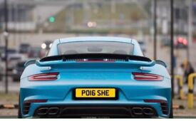 Porsche Number Plate - PO16 SHE