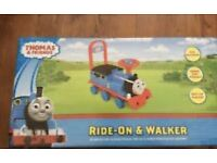 Thomas the tank ride on and walker brand new