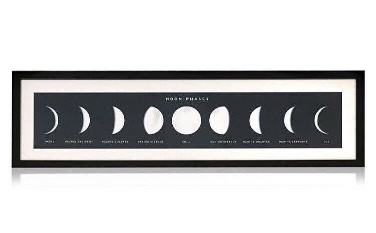 Oliver Bonas Moon Phases Wall Art Print And Frame | in Derby ...