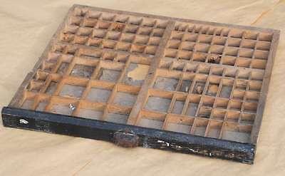 Setzkasten 50x44cm 20er Jahre Vintage shabby chic Deko Letterpress wooden tray