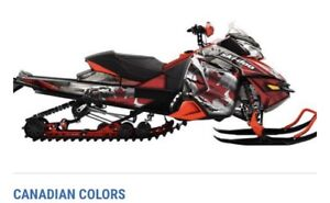 "SCS brand ""Canadian Colours"" Ski Doo full graphic wrap"