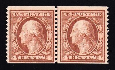 US 354 4c Washington Mint Coil Line Pair VF OG NH w/ PSE Cert SCV $3000