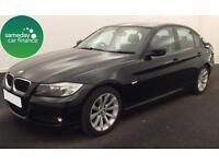 ONLY £196.25 PER MONTH BLACK 2009 BMW 320D 2.0 SE 4 DOOR DIESEL MANUAL