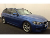 Estoril Blue BMW 318 2.0TD Touring Auto 2016 d M Sport FROM £88 PER WEEK!
