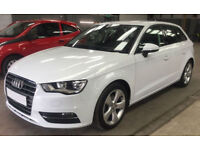 White AUDI A3 SALOON 1.2 1.4 1.6 1.8 2.0 TDI Diesel SPORT FROM £57 PER WEEK!