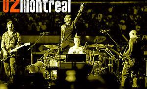 Show de U2 - 5 juin Montréal - RABAIS