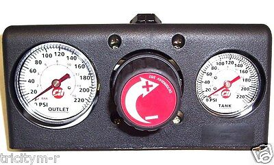 FP209527AV Campbell Hausfeld Air Compressor Manifold Assembly  With Gauges