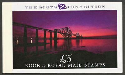 GB PRESTIGE STAMP BOOKLET, 1989, Scott BK-153, £5, Scots Connection, DX 10