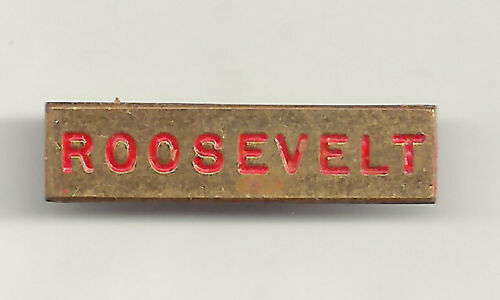 Rectanguler Metal ROOSEVELT Pin