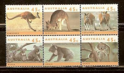 Mint Australia kangardo stamps set (MNH)