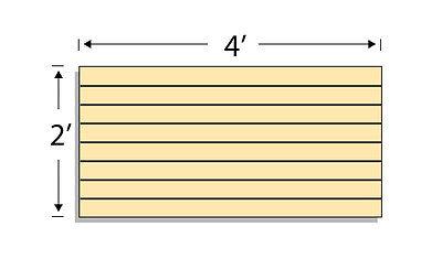 Low Pressure Laminate Slatwall Panels 4w X2h Maple- Set Of 2