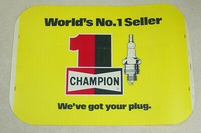 Vintage Champion Spark Plug Paper Airplane Punch-Out Advertising Premium NEW