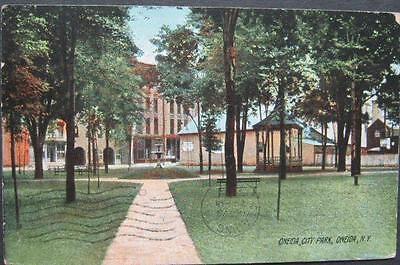 Oneida City Park  Oneida NY The Rotograoh Company E8246 - Party City Ny Ny