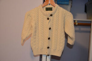 Child's Irish Knit Wool Sweater