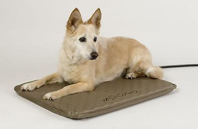 K&H Medium Indoor/Outdoor Lectro Soft Heated Dog Bed with Fleece Cover KH1080