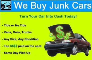 Paying up to $1000 for your unwanted vehicles running or not $$$