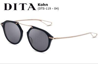 DITA KOHN Round Sunglasses DTS119-49-04 Gold Black Gray Lens 49mm Brand (Hipster Sunglasses Brands)