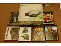 XBOX 360 HD DVD PLAYER with 6 movies