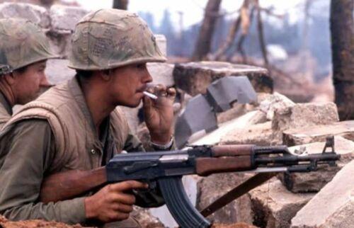 Vietnam War U.S. Marine Smokes Operation Rolling Thunder Glossy 8x10 Photo