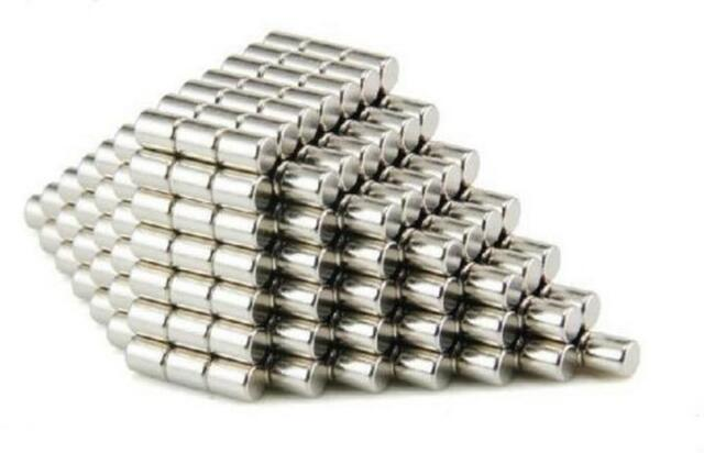 50pcs Strong Mini Round Cylinder Bar Magnets 4 x 6mm Rare Earth Neodymium N52R