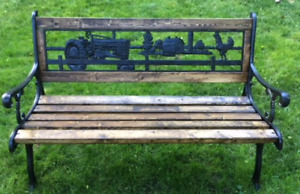 Cast Iron / Wood Garden Bench