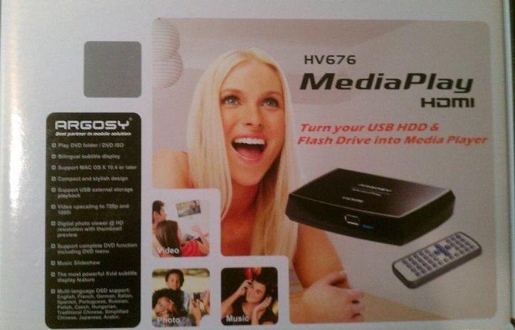Argosy HV676 HD Media Player FREE SHIPPING Argosy Media Player
