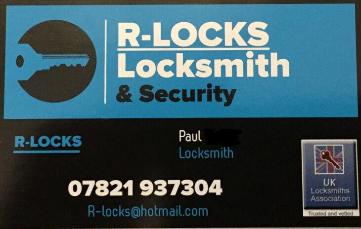 R-Locks locksmith and security.