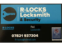R-Locks locksmith and security.
