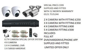 cctv camera system supplied and fitted full kit hd