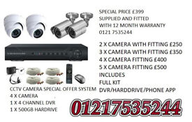 cctv camera system supplied and fitted ahd ip 1500tvl hd tvi