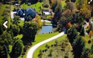 Seasonal Winter Rental 5 Bed Collingwood Retreat Set on 15 Acres