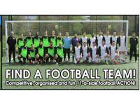 Football teams looking for players, 1 MIDFIELDER, 1 STRIKER NEEDED: Play football in SOUTH LONDON