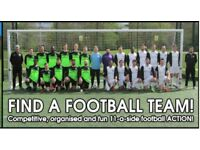 Football teams looking for players, 2 MIDFIELDERS NEEDED FOR SOUTH LONDON FOOTBALL TEAM