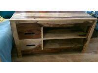 Solid sheesham wood TV unit