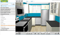 IKEA Kitchen 3D Design, Assembly, Installation, Trim work