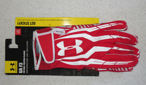 Under Armour UA F3 football receiver gloves - men's large