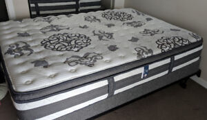 """Like New - Queen Bed - Serta """"Clear Springs"""" Pillow Top & Frame"""