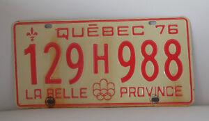 Plaque auto QC 76