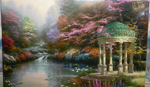 "Thomas Kinkade ""Garden of Prayer"" Art Print Stratford Kitchener Area image 9"