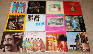 Eclectic collection of vinyl records