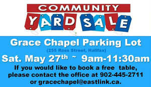Yard Sale in Clayton Park May 27th 9am
