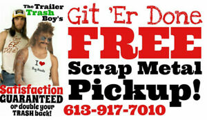 4 You to SAVE MONEY!!! Git 'Er Done FREE Scrap Metal Removal
